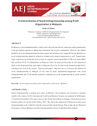 si e social entreprise social entrepreneurship entrepreneurial pdf available