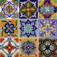 decorative ceramic tile mexican mixed tnmed set n 1 x1001 7