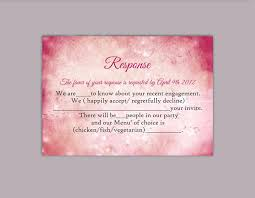 DIY Wedding RSVP Template Editable Word File Instant Download Rustic Rsvp Printable Cards Pink Card Red