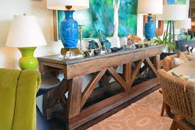 Bluestone Dining Room by Long Reclaimed Pine And Bluestone Console Mecox Gardens
