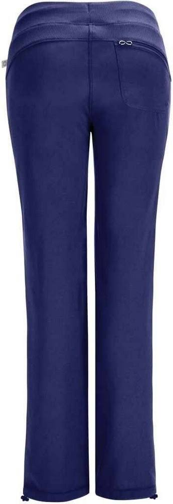 Cherokee Women's Infinity Low-Rise Straight Leg Drawstring Pant - Navy, Large