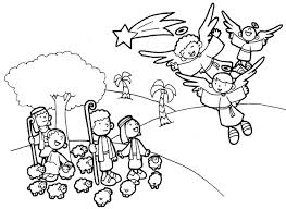 Angel Coloring Pages 240 Angels And Shepherds Sheets