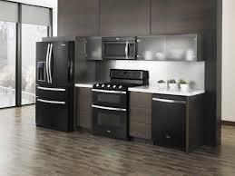 Stylish Modern Kitchen With Black Appliances All Inspiring Kitchens Ideasall Ideas