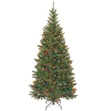 7ft Pencil Xmas Tree by Home Accents Holiday 7 Ft Pre Lit Led Benjamin Fir Quick Set