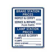 Brake And Lamp Inspection Fresno Ca by Auto Repair Signs U0026 Smog Check Signs Stopsignsandmore Com