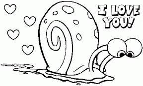 Spongebob Valentine Coloring Pages Printable Kids