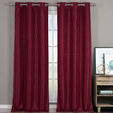 Burgundy Grommet Blackout Curtains voyage thermal blackout curtains with grommets set of 2 panels