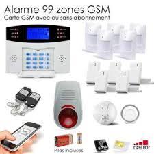 alarme maison sans fil gsm 99 zones box achat prix fnac