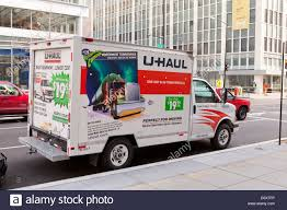 U-Haul Truck In Urban Street - USA Stock Photo: 55294394 - Alamy