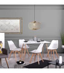design stuhl fuß sitz buche weiß aus kunstleder menge 4