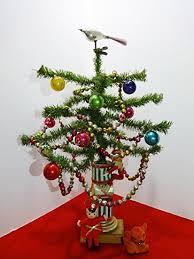 Antique Christmas Feather Tree Mercury Glass Ornaments Garland Knee Hugger JAPAN