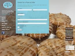 Website Design CCS Cupcake Cafe Place Order Page