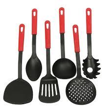 set ustensiles de cuisine 2017 pas cher marque creative 6 pièce noir cuisine tool
