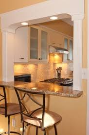 Kitchen Pass Through With Lighting Love The Idea Of Sinking Into Beam