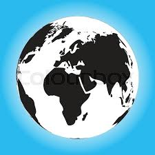 Black and white globe Black world and world globe black globe