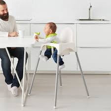 Highchair With Safety Belt ANTILOP White, Silver-colour Iktilopghchairreviewweaningwithtraycushion Highchair With Tray Antilop Light Blue Silvercolour Baby Hacks Ikea Antilop High Chair 9mas Easymat On Ikea High Chair Babies Kids Nursing Feeding Carousell Cushion Cushion Only White Price In Singapore Outletsg Ikea Price Ruced Baby