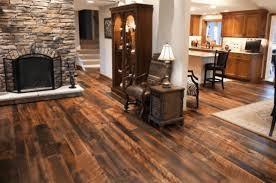 Reclaimed Antique Oak Flooring In A Living Room