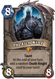 the lich king hearthstone card
