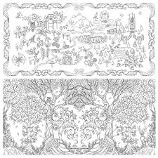 Enchanted Forest By Johanna Basford An Inky Quest And Colouring Book Paperback Picture Relax 12 Colors Pencil Free In Books From Office School