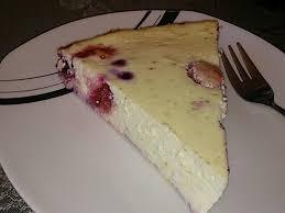 low carb quarkkuchen mit früchten
