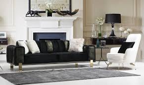 casa padrino luxus wohnzimmer sofa mit verstellbarer rückenlehne schwarz gold 223 x 93 x h 76 cm wohnzimmer möbel luxus möbel