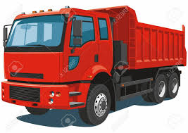 100 Red Dump Truck Vector Isolated On White Background Royalty Free
