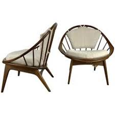 Kofod Larsen Selig Lounge Chair by Caned Lounge Chair By Ib Kofod Larsen For Selig Of Denmark At 1stdibs