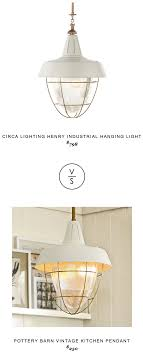 circa lighting henry industrial hanging light 798 vs pottery barn