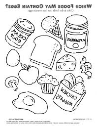 Coloring Pages Healthy Food Printable Safety Book Pyramid Color
