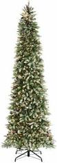 Pre Lit Pencil Slim Christmas Trees by 8ft Green Pine Pencil Slim Artificial Christmas Tree With 460