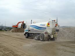 100 Truck Central Civil Water Truck Using Central Rear Spray H2Flow Water Services