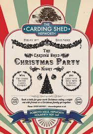 The Shed Book A Table by The Carding Shed Christmas Party Night Holmfirth Events