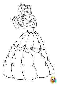 Belle Disney Coloring Page