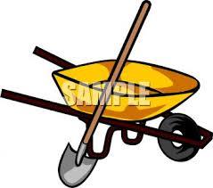 0511 1006 0917 0727 A Wheelbarrow With A Shovel clipart image