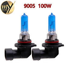 2pcs 9005 100w hb3 100w halogen bulbs white headlights fog