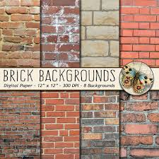 Brick Digital Paper Photo Backgrounds 8 Rustic And New Wall Backdrops Invitation Web Design From TheArtBoxDesigns