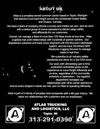 100 Atlas Trucking ATLAS TRUCKING AND LOGISTICS LLC PDF
