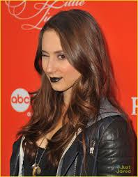 Pll Halloween Special Season 3 by Troian Bellisario Black Lipstick For Pll Halloween Screening