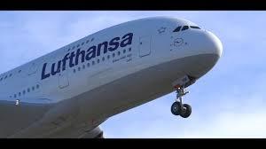HD Lufthansa Airbus A380 800 Landing at Los Angeles KLAX