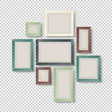 Group Of Colorful Frames On Transparent Background Stock Vector