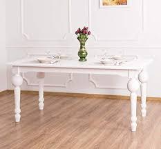 casa padrino landhausstil esstisch weiß 180 x 90 x h 78 cm