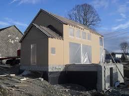 maison bois lamelle colle maison préfabriquée contemporaine à ossature bois en bois