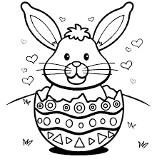 Easter Bunnies To Color Bunny Coloring Pages When Is