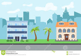 100 Three Story Houses Vector City With Twostory And Story Cartoon Stock