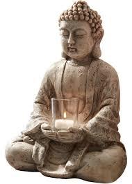 deko figur buddha mit teelichthalter