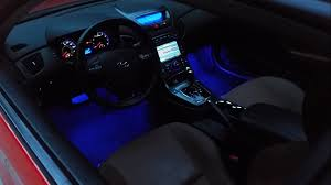 L.E.D Interior Foot Well Light Install - Genesis Coupe - YouTube