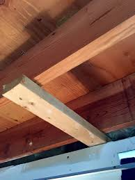 Ceiling Joist Span For Drywall by Basement Refinishing Blocking Above Wall In The Way Of New
