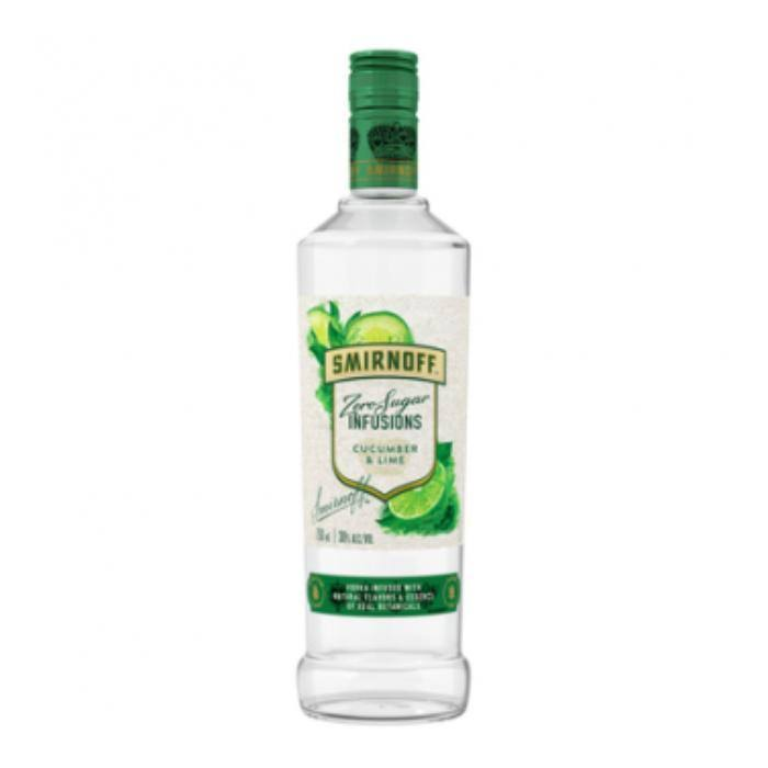 Smirnoff Infusions Zero Sugar Cucumber & Lime Vodka 750ml