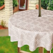 Rectangle Patio Tablecloth With Umbrella Hole by Amazon Com Eforcurtain 60inch Round Umbrella Table Cover With