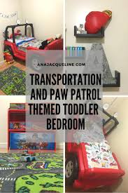How to Cars Planes and Paw Patrol themed toddler bedroom they